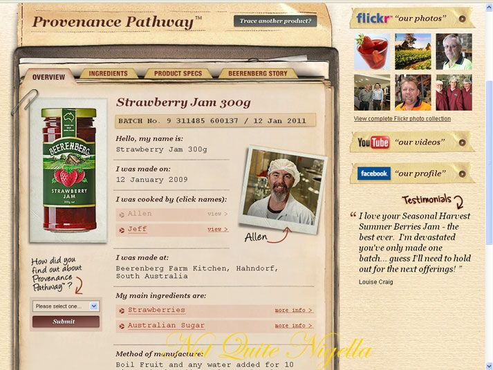 1-2-3-4 Butter Cake and the Provenance Pathway