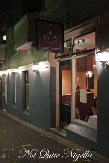 1945 restaurant, pyrmont, review,  outside