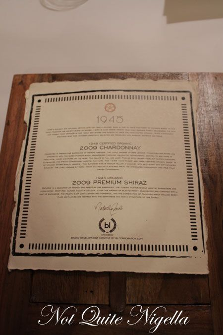 1945 restaurant, pyrmont, review, wine