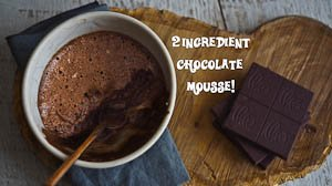 The Easiest 2 Ingredient Chocolate Mousse!