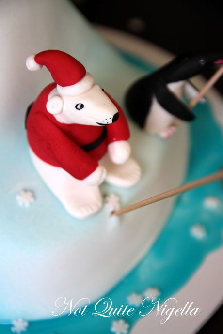 north pole christmas cake