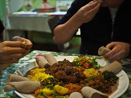 Eating Ethiopian at Aaboll Cafe & Persian at Shiraz, Merrylands
