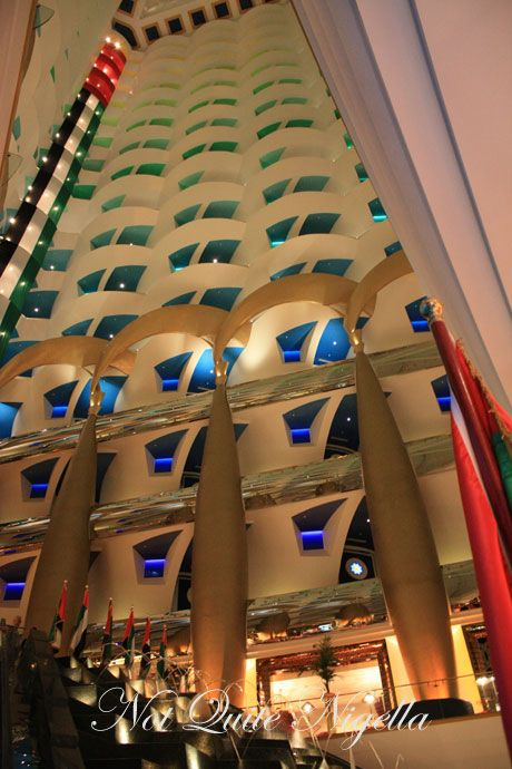Afternoon Tea At The 7 Star Burj Al Arab Dubai Not Quite Nigella