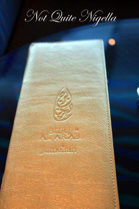 burj al arab dubai menu