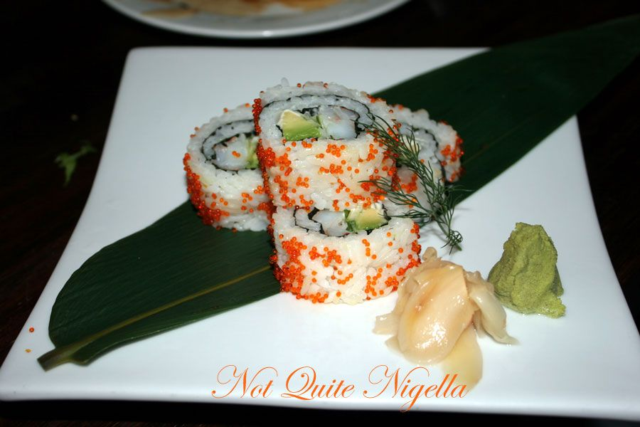 Ainoya Japanese restaurant at Kirribilli  California Roll