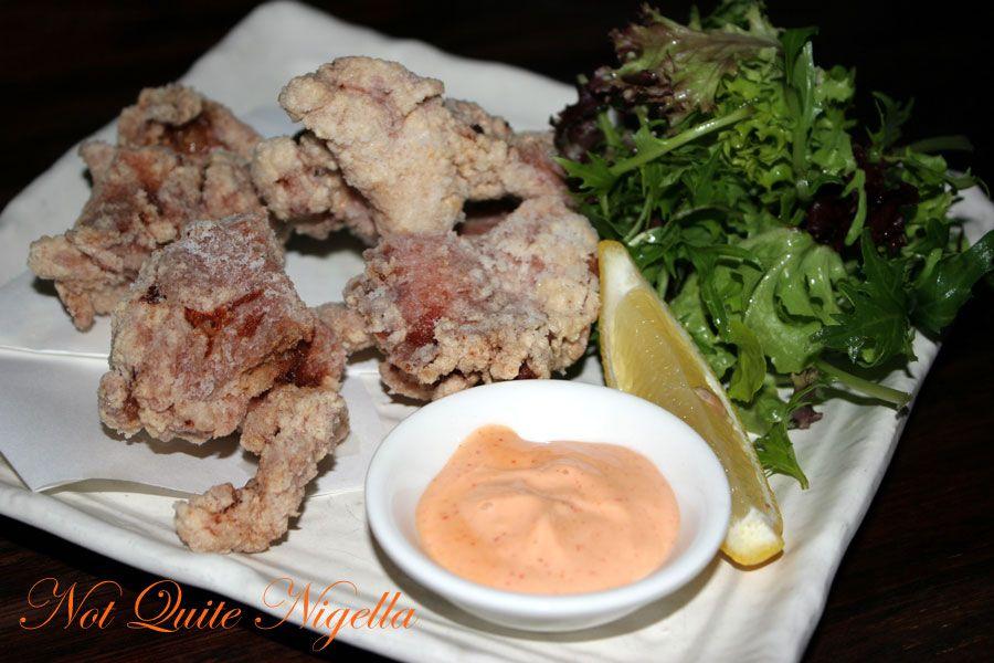 Ainoya Japanese restaurant Kirribilli Chicken karaage