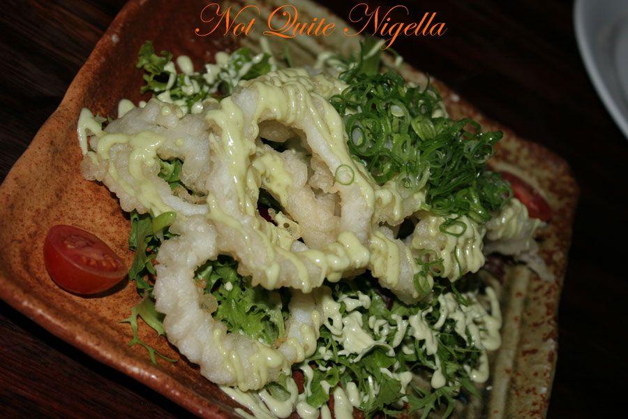 Ainoya Japanese restaurant Kirribilli Squid wasabi mayo