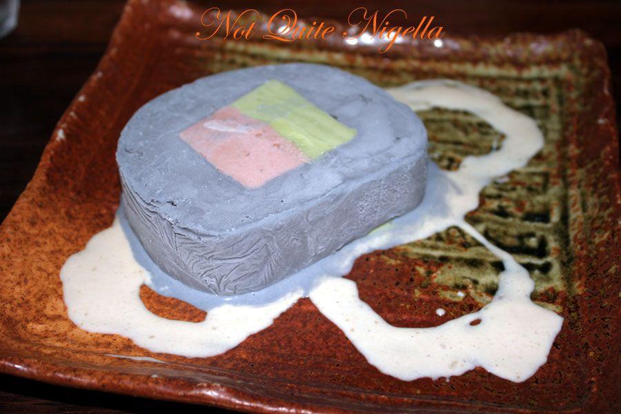 Ainoya Japanese restaurant Kirribilli Ice cream terrine