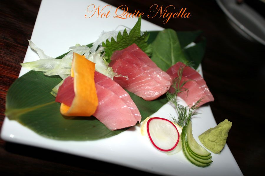 Ainoya Japanese restaurant Kirribilli Tuna Sashimi