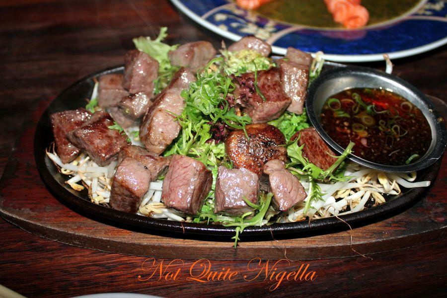Ainoya Japanese restaurant Kirribilli Wagyu Saikoro steak