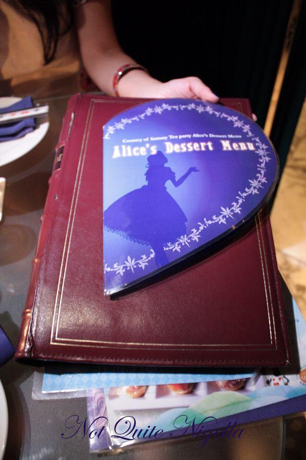 Alice in Wonderland Fantasy Dining Ginza menus