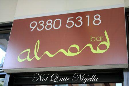 almond bar darlinghurst sign