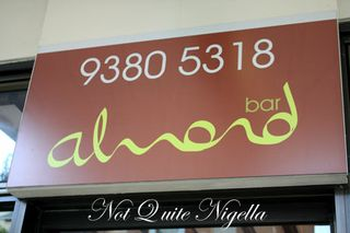 almond bar darlinghurst sign