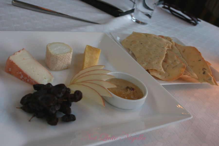 Altitude at the Shangri-la Hotel, The Rocks Sydney Cheese plate