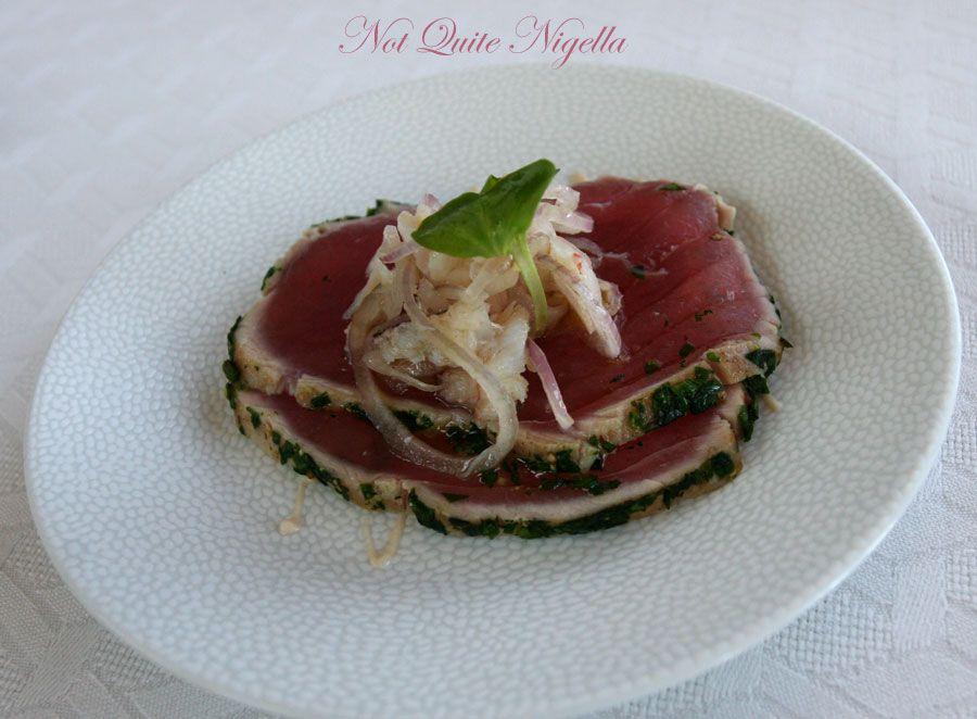 Altitude at the Shangri-la Hotel, The Rocks Sydney Yellowfin tuna
