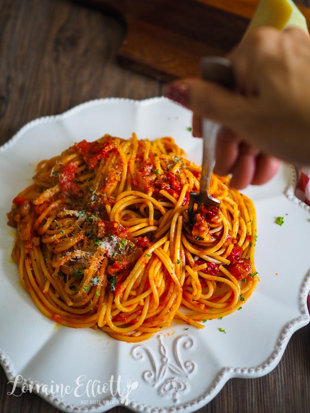 Amatriciana Pasta Sauce Spaghetti Bucatini