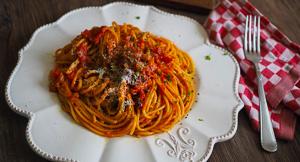 AUTHENTIC Pasta All'amatriciana or Amatriciana Pasta