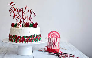 """Santa Baby"" Angel Food Cake!"