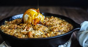 Quincessential Quince and Apple ANZAC Biscuit Crumble