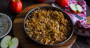 Best Apple Crumble With Calvados and Brown Butter