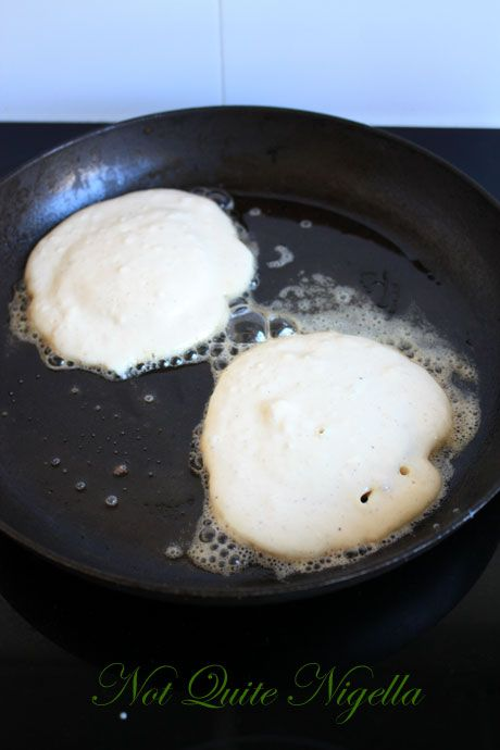 pancakes frying