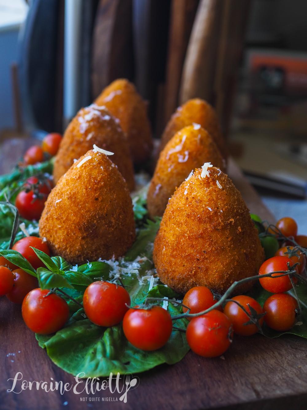 Arancini balls recipe