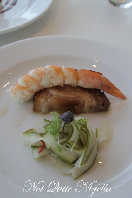 art gallery restaurant nsw, review, prawn, pork