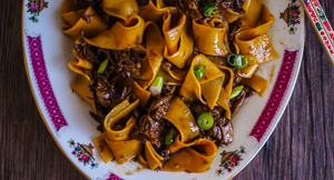 Autumnal Asian Peking Duck Ragu With Pappardelle