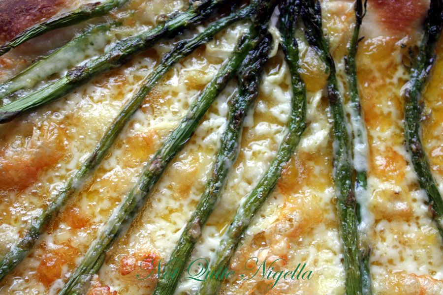 Asparagus and Triple Cream Brie Pizza