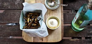 The Accidental Asparagus Fries {Baked Not Fried!}