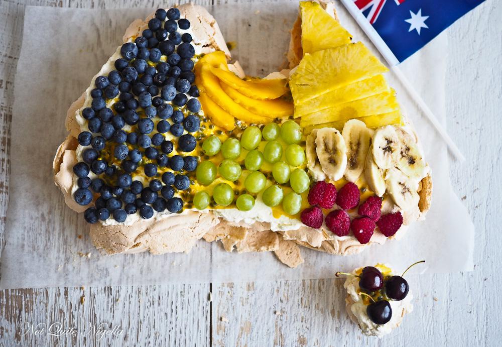 Australia Shaped Pavlova
