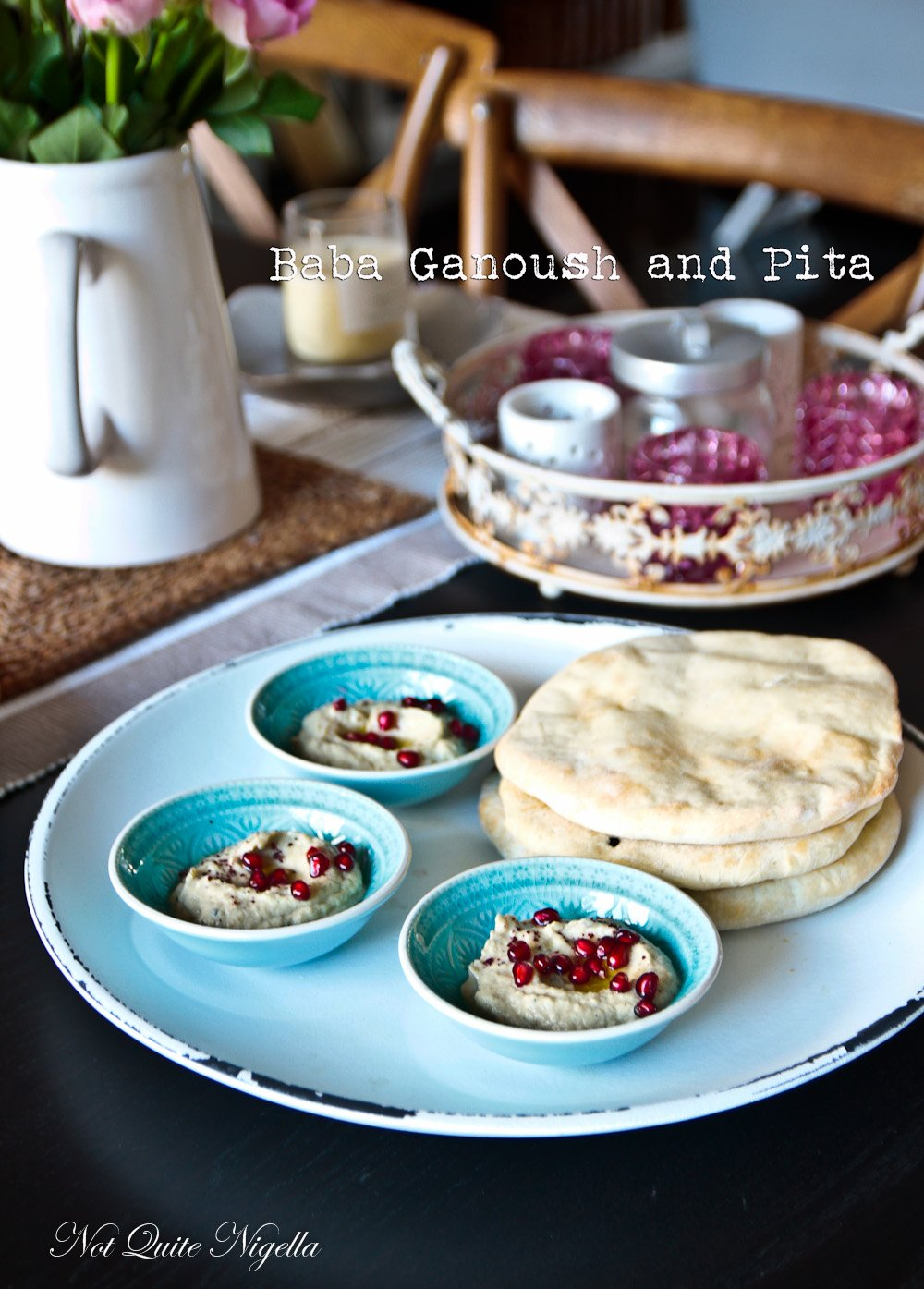 Baba Ganoush Pita Bread Recipe