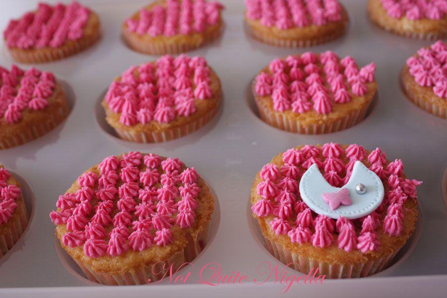 Baby Bib and ABC Block Cupcakes