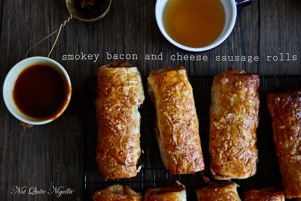 Bacon Cheese Sausage Rolls