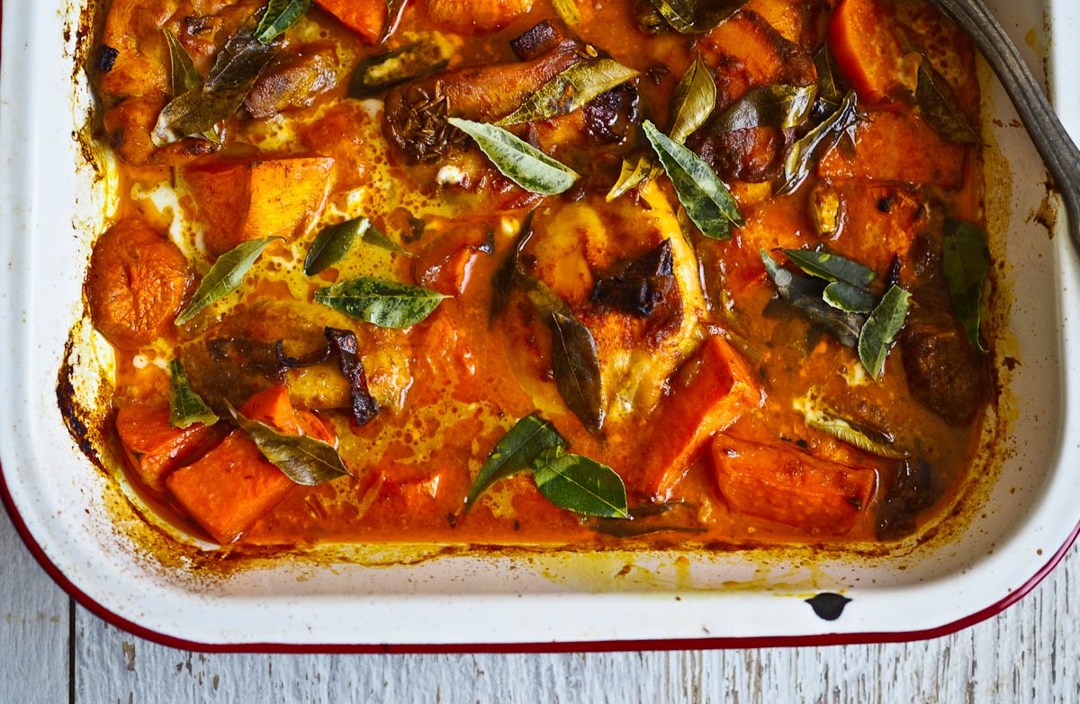 Baked Chicken Amp Sweet Potato Yellow Curry Not Quite Nigella