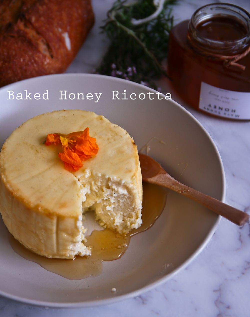 Baked Ricotta With Honey