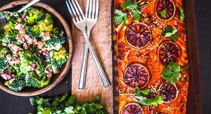 Father's Day BBQ Plank Salmon & Broccoli Bacon Salad!