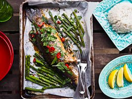 Roasted Whole Barramundi Asian Style