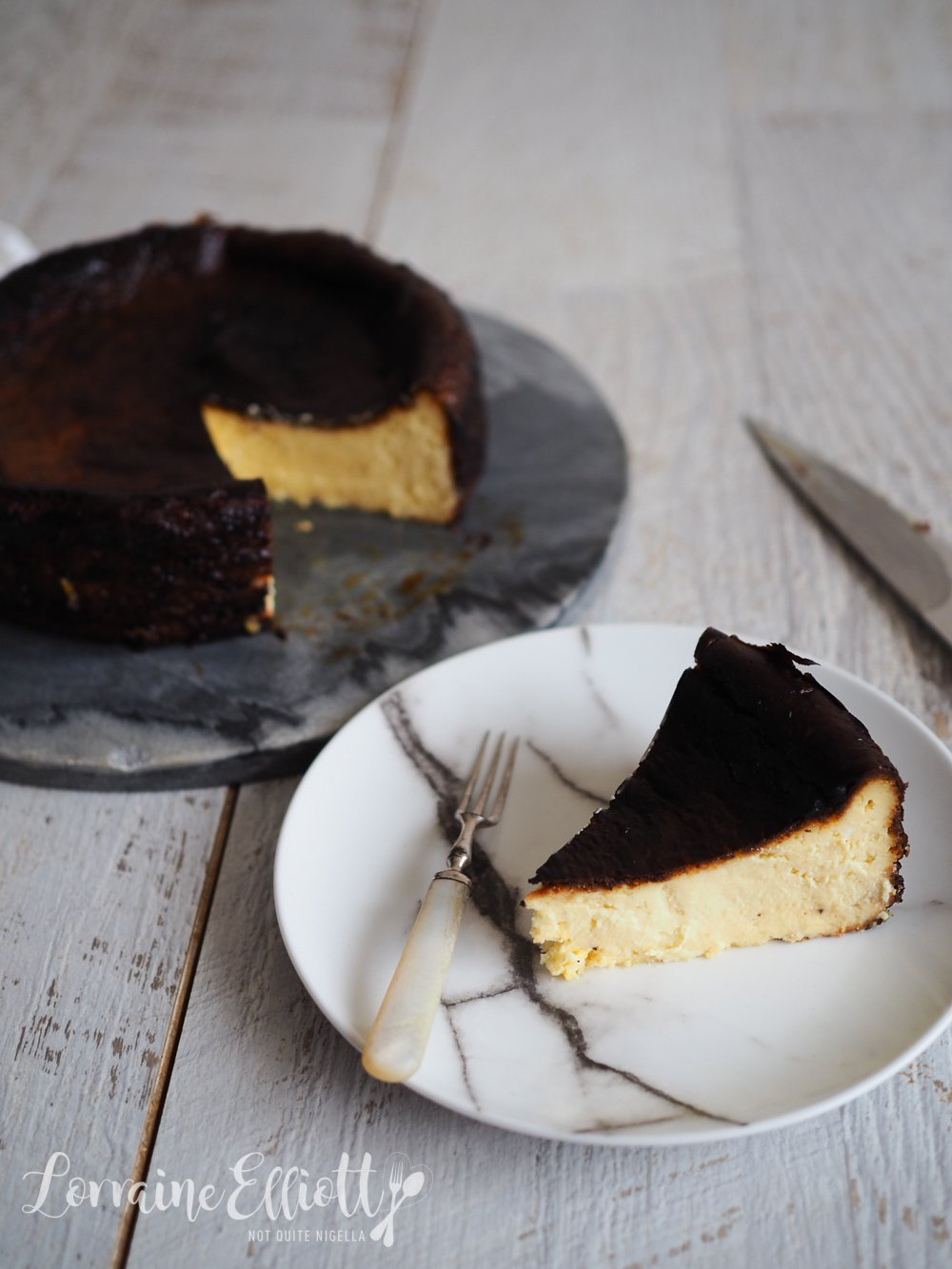 Burnt Basque Cheesecake Easy Not Quite Nigella