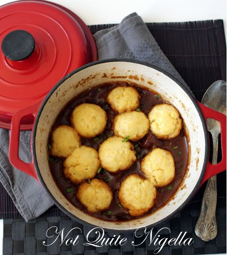 Beef & Beer Stew with Cheese Dumplings