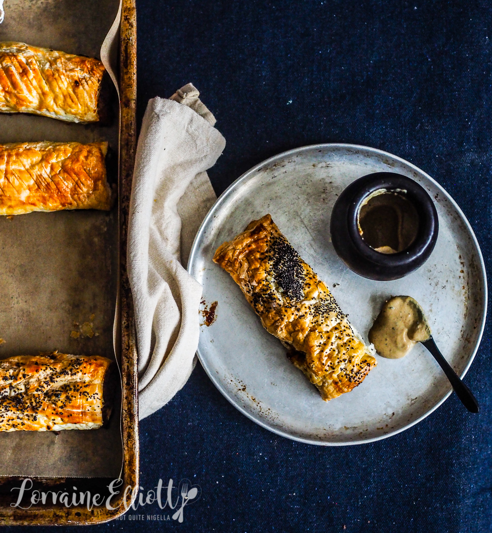 Beef & Blue Cheese Sausage Rolls With Dijon