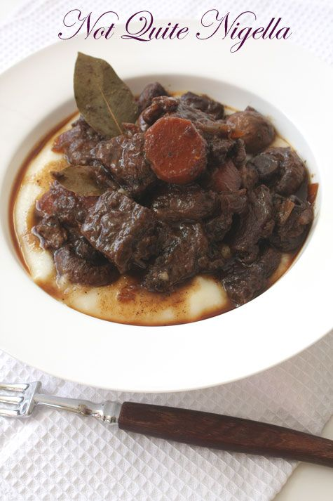 Beef Bourguignon with Creamed Semolina