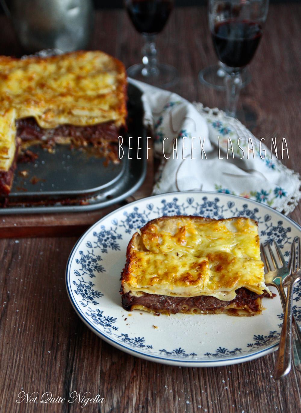 Beef Cheek Lasagna