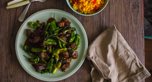 Pepper Roulette! 15 Minute Shishito Pepper, Beef & Asparagus Stir Fry!