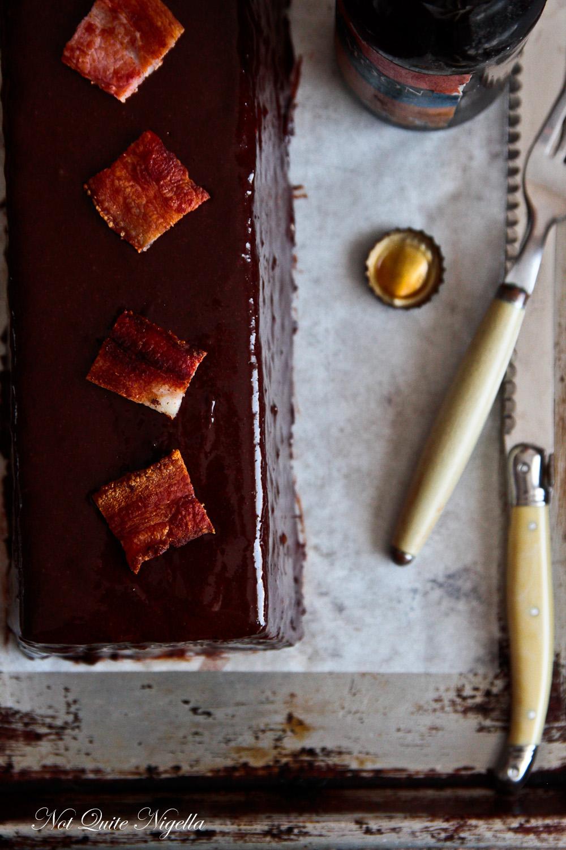 Chocolate Beer Bacon Cake