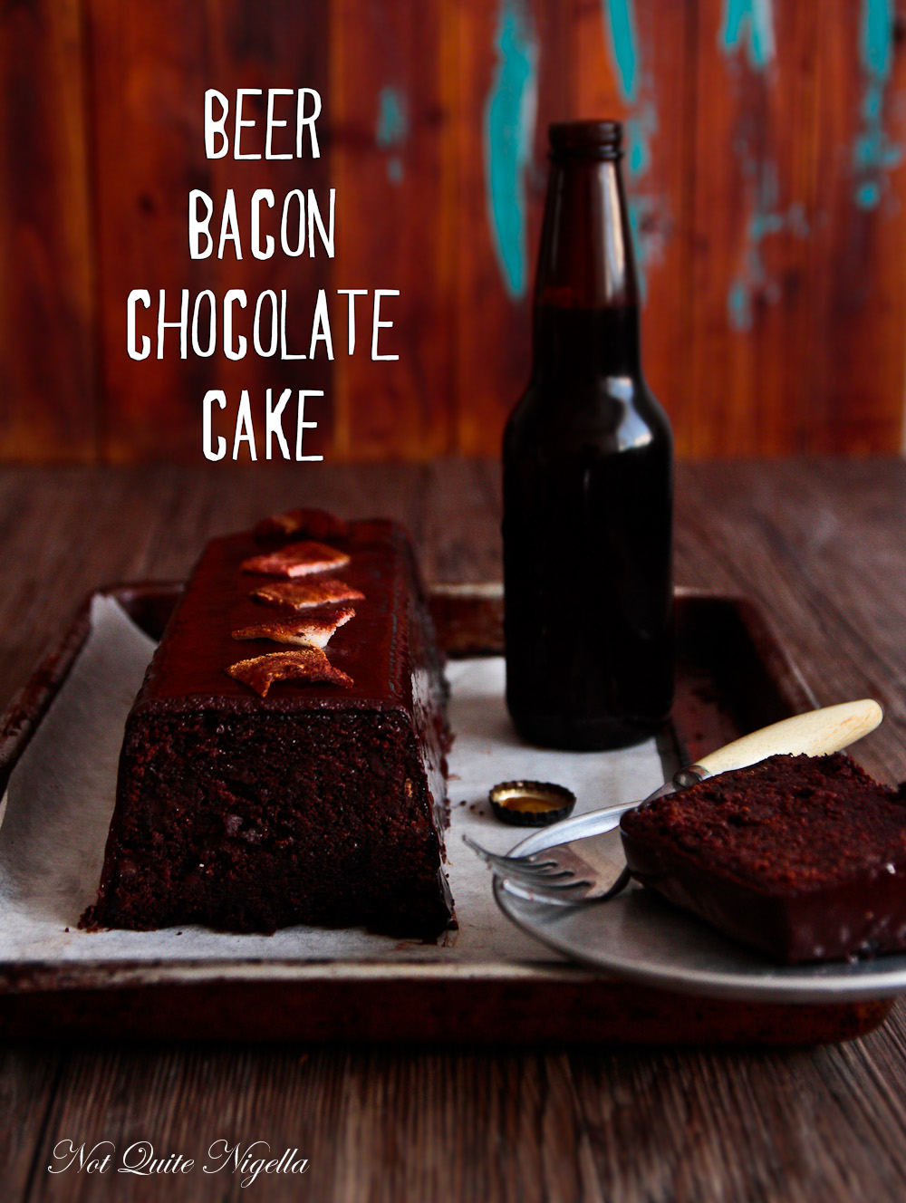 Chocolate Beer Bacon Cake