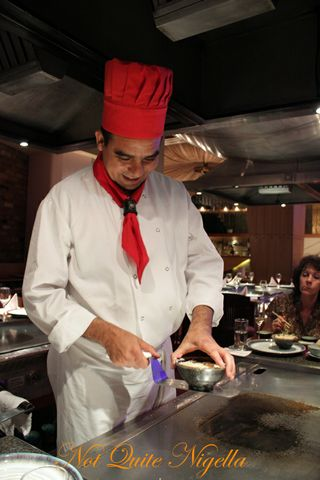 Benihana Kings Road London Chef flip