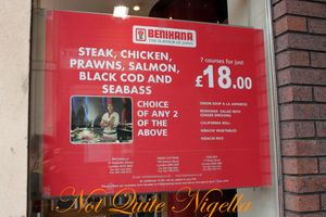 Benihana Japanese restaurant, Kings Road, Chelsea London
