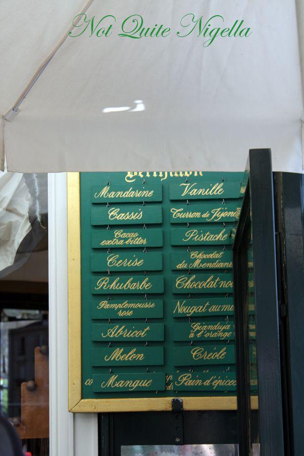 Berthillon Ile St Louis Paris flavours