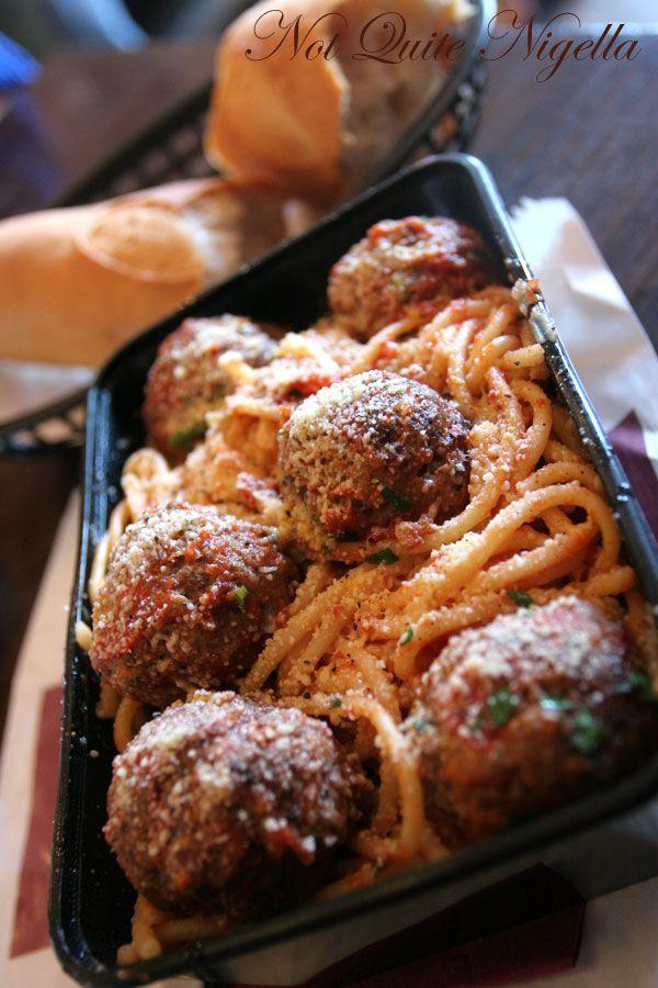 Bertoni's Casalinga at Balmain Spaghetti meatballs